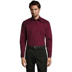 Textil Muži Košile s dlouhymi rukávy Sols BRIGHTON STRECH Violeta
