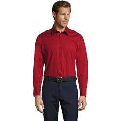 Textil Muži Košile s dlouhymi rukávy Sols BRIGHTON STRECH Rojo