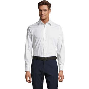 Textil Muži Košile s dlouhymi rukávy Sols BRIGHTON STRECH Blanco