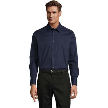 Textil Muži Košile s dlouhymi rukávy Sols BRIGHTON STRECH Azul