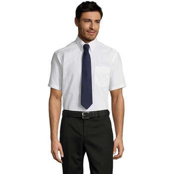 Textil Muži Košile s krátkými rukávy Sols BRISBANE ORIGINAL WORK Blanco