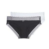 Spodní prádlo  Ženy Kalhotky DIM SEXY FASHION X2 Černá / Bílá
