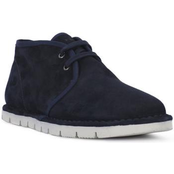 Boty Muži Kotníkové boty Frau SUEDE BLU Blu