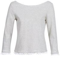 Textil Ženy Trička s dlouhými rukávy Betty London KARA Bílá / Tmavě modrá