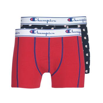 Spodní prádlo  Muži Boxerky Champion MIX UNI + IMPRIME X2 Černá / Červená
