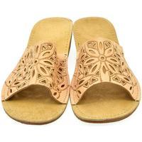 Boty Ženy Dřeváky John-C Dámske hnedé papuče ADINA ťavia