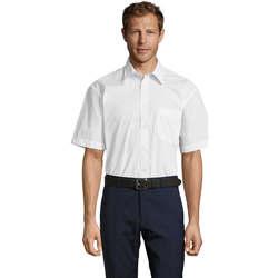 Textil Muži Košile s krátkými rukávy Sols BRISTOL MODERN WORK Blanco