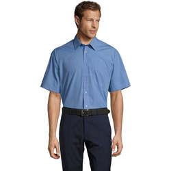 Textil Muži Košile s krátkými rukávy Sols BRISTOL MODERN WORK Azul