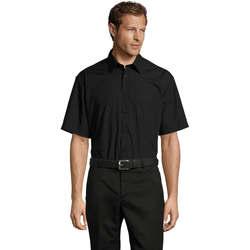 Textil Muži Košile s krátkými rukávy Sols BRISTOL MODERN WORK Negro