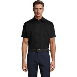 Textil Muži Košile s krátkými rukávy Sols BROADWAY STRECH MODERN Negro