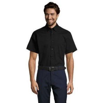 Textil Muži Košile s krátkými rukávy Sols BROOKLYN TWILL DAY Negro