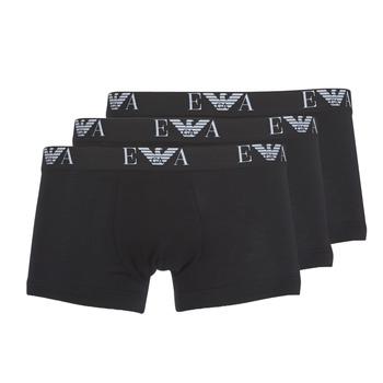 Spodní prádlo  Muži Boxerky Emporio Armani CC715-111357-21320 Černá