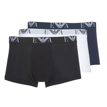 Spodní prádlo  Muži Boxerky Emporio Armani CC715-111357-56110 Bílá / Černá / Tmavě modrá