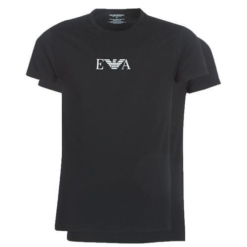 Textil Muži Trička s krátkým rukávem Emporio Armani CC715-PACK DE 2 Černá