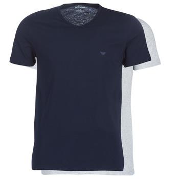 Textil Muži Trička s krátkým rukávem Emporio Armani CC722-111648-15935 Tmavě modrá / Šedá