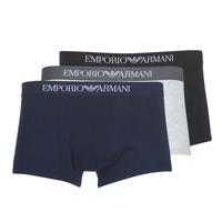 Textil Muži Boxerky Emporio Armani CC722-111610-94235 Tmavě modrá / Šedá / Černá
