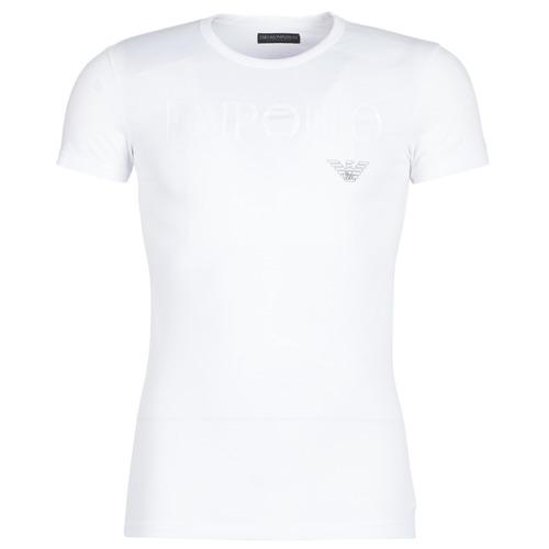 Textil Muži Trička s krátkým rukávem Emporio Armani CC716-111035-00010 Bílá