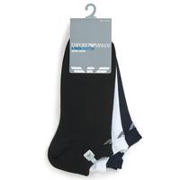 Doplňky  Muži Ponožky Emporio Armani CC134-300008-00997 Bílá / Černá / Tmavě modrá