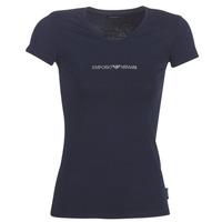 Textil Ženy Trička s krátkým rukávem Emporio Armani CC317-163321-00135 Tmavě modrá