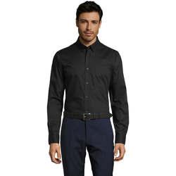 Textil Muži Košile s dlouhymi rukávy Sols BUSSINES MODERN MEN Negro