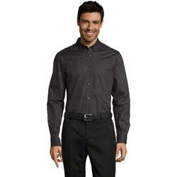 Textil Muži Košile s dlouhymi rukávy Sols BUSSINES MODERN MEN Gris