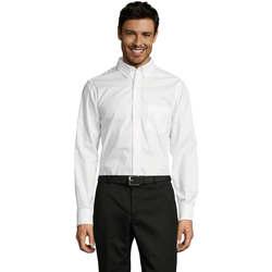 Textil Muži Košile s dlouhymi rukávy Sols BUSSINES MODERN MEN Blanco
