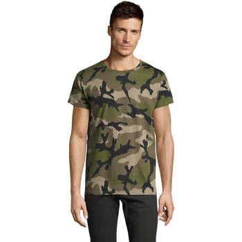 Textil Muži Trička s krátkým rukávem Sols CAMOUFLAGE DESIGN MEN Verde