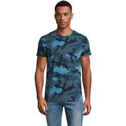 Textil Muži Trička s krátkým rukávem Sols CAMOUFLAGE DESIGN MEN Azul