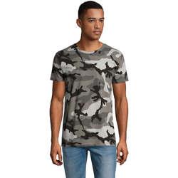 Textil Muži Trička s krátkým rukávem Sols CAMOUFLAGE DESIGN MEN Gris