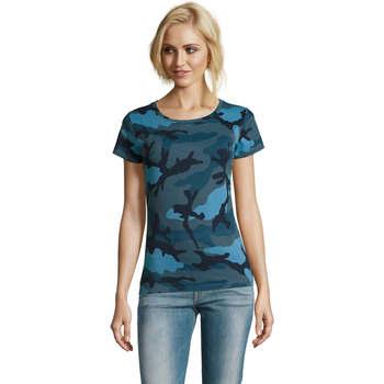 Textil Ženy Trička s krátkým rukávem Sols CAMOUFLAGE DESIGN WOMEN Azul