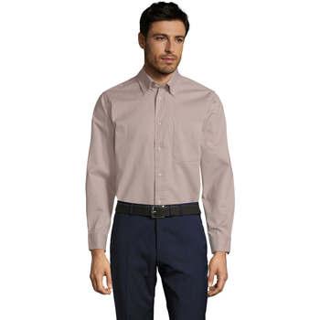 Textil Muži Košile s dlouhymi rukávy Sols BEL-AIR TWILL MEN Beige