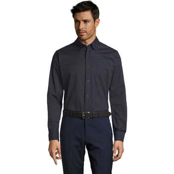 Textil Muži Košile s dlouhymi rukávy Sols BEL-AIR TWILL MEN Azul