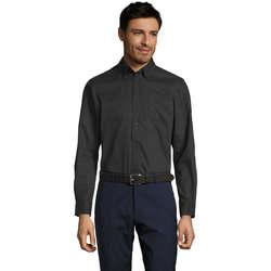 Textil Muži Košile s dlouhymi rukávy Sols BEL-AIR TWILL MEN Negro