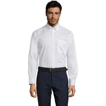 Textil Muži Košile s dlouhymi rukávy Sols BEL-AIR TWILL MEN Blanco