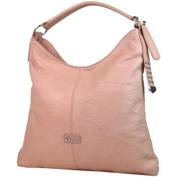 Taška Ženy Kabelky  Demra Moderní velká růžová kombinovaná dámská kabelka 3753-DE růžová