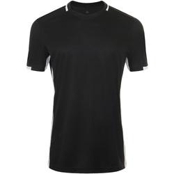Textil Muži Trička s krátkým rukávem Sols CLASSICO SPORT Negro