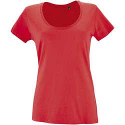 Textil Ženy Trička s krátkým rukávem Sols METROPOLITAN CITY GIRL Rojo