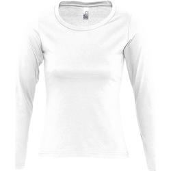 Textil Ženy Trička s dlouhými rukávy Sols MAJESTIC COLORS GIRL Blanco
