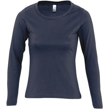 Textil Ženy Trička s dlouhými rukávy Sols MAJESTIC COLORS GIRL Azul