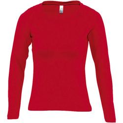 Textil Ženy Trička s dlouhými rukávy Sols MAJESTIC COLORS GIRL Rojo