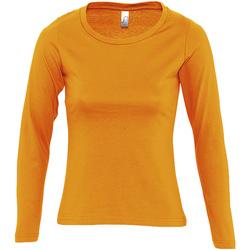 Textil Ženy Trička s dlouhými rukávy Sols MAJESTIC COLORS GIRL Naranja