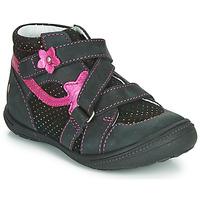 Boty Dívčí Kotníkové boty GBB NINA Černá / Růžová