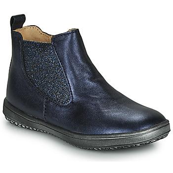 Boty Dívčí Kotníkové boty Achile SARA Tmavě modrá