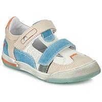 Boty Chlapecké Nízké tenisky GBB PRINCE Bílá / Béžová / Modrá