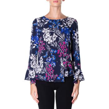 Textil Ženy Košile / Halenky Luckylu BLUSA STMPA CON PENN 0405-navy
