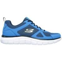 Boty Muži Nízké tenisky Skechers Track Modrá