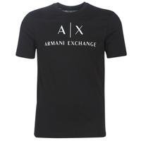 Textil Muži Trička s krátkým rukávem Armani Exchange 8NZTCJ-Z8H4Z-1200 Černá