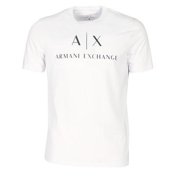 Textil Muži Trička s krátkým rukávem Armani Exchange 8NZTCJ-Z8H4Z-1100 Bílá
