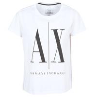 Textil Ženy Trička s krátkým rukávem Armani Exchange 8NYTCX-YJG3Z-5102 Bílá