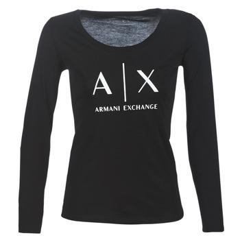 Textil Ženy Trička s dlouhými rukávy Armani Exchange 8NYTDG-YJ16Z-1200 Černá
